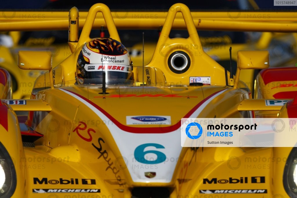 Patrick Long (USA) Penske Racing Porsche RS Spyder. American Le Mans Series, Rd2, St Petersburg, Florida, USA, 6 April 2008.