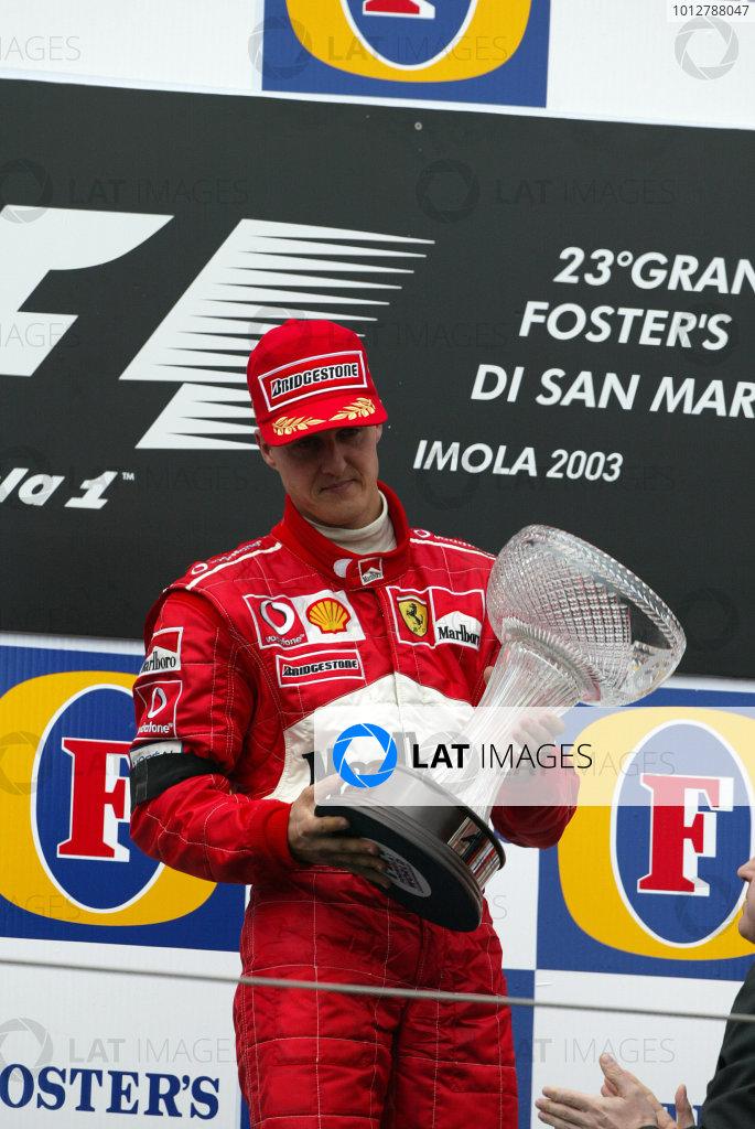 2003 San Marino Grand Prix - Sunday Race,2003 San Marino Grand Prix Imola, Italy. 20th April 2003 World Copyright: Steve Etherington/LAT Photographic ref: Digital Image Only