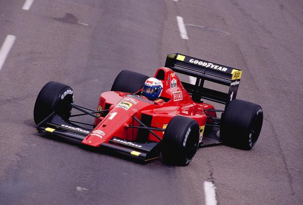1990 United States Grand Prix.Phoenix, Arizona, USA.9-11 March 1990.Alain Prost (Ferrari 641).Ref-90 USA 50.World Copyright - LAT Photographic