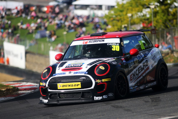 2017 MINI Challenge, Brands Hatch, Kent. 5th - 6th August 2017. Luke Caudle MINI JCW. World Copyright: JEP/LAT Images.