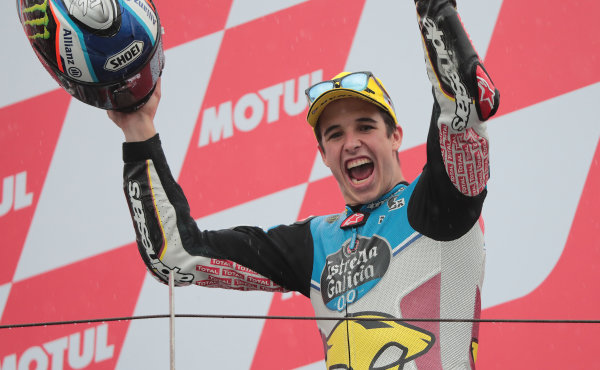 2017 Moto2 Championship - Round 15 Motegi, Japan. Sunday 15 October 2017 Race winner Alex Marquez, Marc VDS World Copyright: Gold and Goose / LAT Images ref: Digital Image 698133