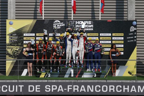 2017 European Le Mans Series  Spa-Franchorchamps, Belgium 22nd-24th September 2017 P2 Podium  World copyright. JEP/LAT Images
