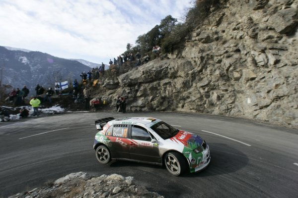 2006 FIA World Rally Champs. Round One, Monte Carlo Rally.19th - 22nd January 2006.Francois Duval, Skoda, Action.World Copyright: McKlein/LAT