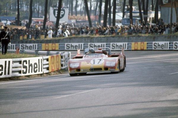 1972 Le Mans 24 hours.Le Mans, France. 10-11 June 1972.Vic Elford/Helmut Marko (Alfa Romeo 33TT3), retired.World Copyright: LAT PhotographicRef: 35mm transparency 72LM05