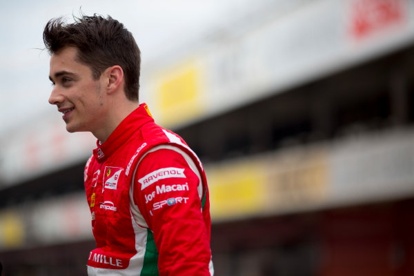 Circuit de Barcelona Catalunya, Barcelona, Spain. Monday 13 March 2017. Charles Leclerc (MON, PREMA Racing). Photo: Alastair Staley/FIA Formula 2 ref: Digital Image 580A9306