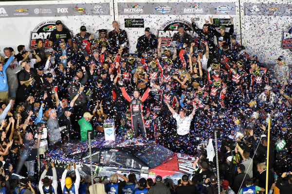2017 Monster Energy NASCAR Cup Series - Daytona 500 Daytona International Speedway, Daytona Beach, FL USA Sunday 26 February 2017 Kurt Busch celebrates his win World Copyright: Nigel Kinrade/LAT Images  ref: Digital Image _DSC8001