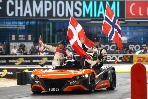 2017 Race of Champions Miami, Florida, USA Sunday 22 January 2017 Tom Kristensen and Petter Solberg, Team Nordic World Copyright: Alexander Trienitz/LAT Photographic ref: Digital Image 2017-RoC-MIA-AT2-1779