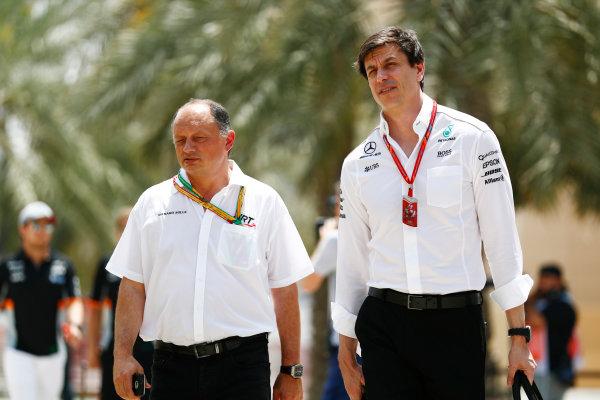 Bahrain International Circuit, Sakhir, Bahrain.  Friday 14 April 2017. Toto Wolff, Executive Director (Business), Mercedes AMG. World Copyright: Sam Bloxham/LAT Images ref: Digital Image _J6I8659