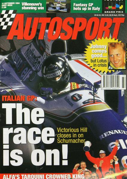 Cover of Autosport magazine, 15th September 1994