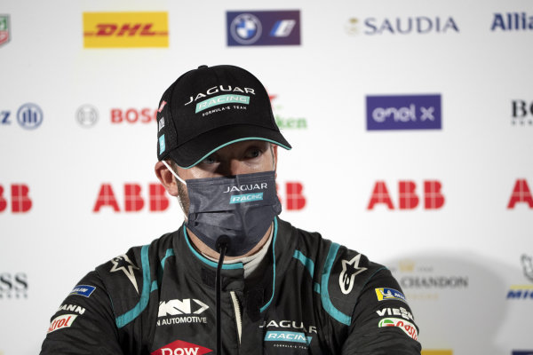 Sam Bird (GBR), Jaguar Racing, 1st position, in the Press Conference