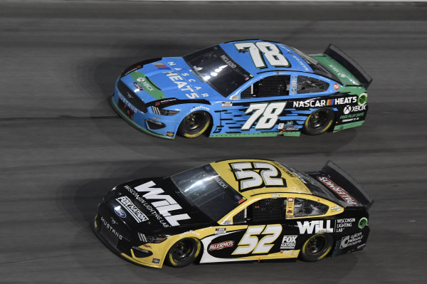 #52: Josh Bilicki, Rick Ware Racing, Ford Mustang #78: BJ McLeod, Live Fast Motorsports, Ford Mustang