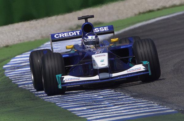 2001 German Grand Prix - PracticeHockenheim, Germany. 27th July 2001.Kimi Raikkonen, Sauber Petronas C20, action.World Copyright: Steve Etherington/LAT Photographic.ref: 16mb Digital Image