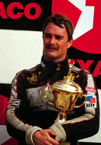 1984 Dutch Grand Prix.Zandvoort, Holland.24-26 August 1984.Nigel Mansell (Team Lotus) 3rd position.World Copyright - LAT Photographic