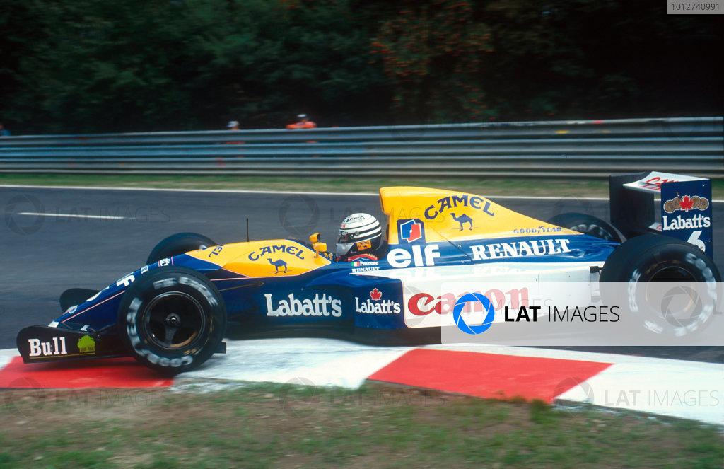 1992 Belgian Grand Prix.Spa-Francorchamps, Belgium.28-30 August 1992.Riccardo Patrese (Williams FW14B Renault) 3rd position. Ref-92 BEL 22.World Copyright - LAT Photographic