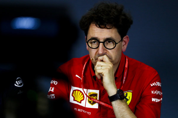 Mattia Binotto, Team Principal Ferrari, in the team principals' Press Conference
