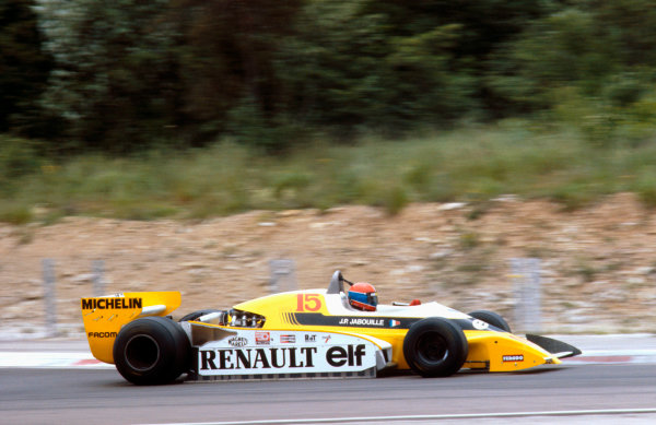 1979 French Grand Prix.Dijon-Prenois, France.29/6-1/7 1979.Jean-Pierre Jabouille (Renault RS10) 1st position.Ref-79 FRA 17.World Copyright - LAT Photographic