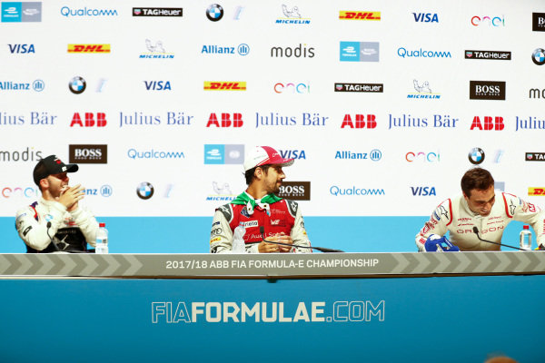 Lucas Di Grassi (BRA), Audi Sport ABT Schaeffler, Audi e-tron FE04, wins the Zurich ePrix, with Sam Bird (GBR), DS Virgin Racing, DS Virgin DSV-03, in and Jérôme d'Ambrosio (BEL), Dragon Racing, Penske EV-2, in 3rd.