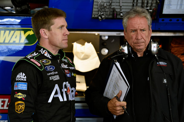 19-21 September, 2014, Loudon, New Hampshire USA Carl Edwards and Jimmy Fennig ?2014, Nigel Kinrade LAT Photo USA