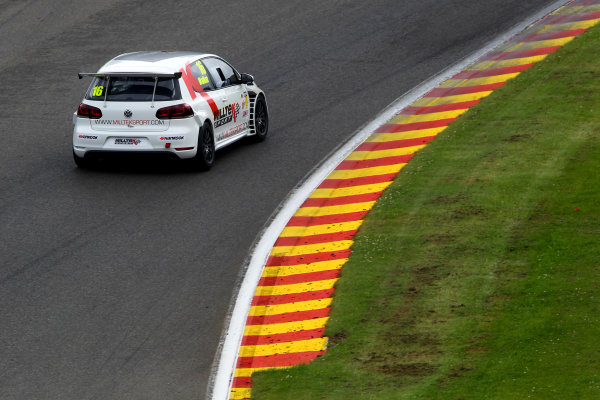 2014 Volkswagen Racing Cup, Spa Francorchamps, Belgium. 11th - 12th July 2014. James Walker (GBR) Milltek Sport Golf GTI Mk VI. World Copyright: Ebrey / LAT Photographic.
