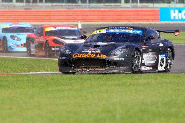 2013 Ginetta GT Supercup,Silverstone, Northants, 28th-29th Septemver 2013,Will Burns (GB) GInetta G50World Copyright. Jakob Ebrey/LAT Photographic