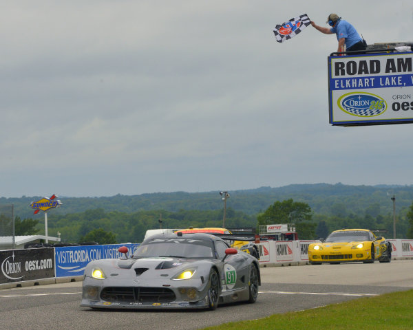 9-11 August, 2013, Elkhart Lake, Wisconsin USA #91 SRT Motorsports Viper wins first ALMS race in GT class with Marc Goossens and Dominik Farnbarher ©Dan R. Boyd LAT Photo USA