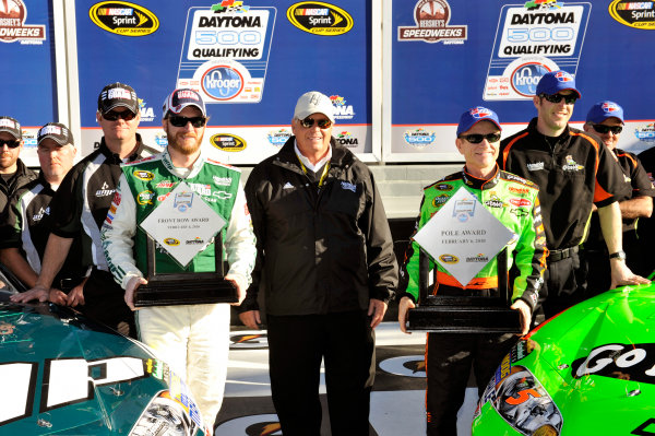 5-14 February 2010, Daytona Beach, Florida, USAMark Martin and Dale Earnhardt Jr. will start from the the front row for the Daytona 500©2010, LAT South, USALAT Photographic