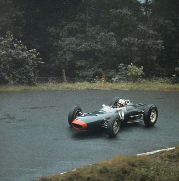 Nurburgring, Germany.3-5 August 1962.John Surtees (Lola Mk4 Climax) 2nd position.Ref-3/0635.World Copyright - LAT Photographic