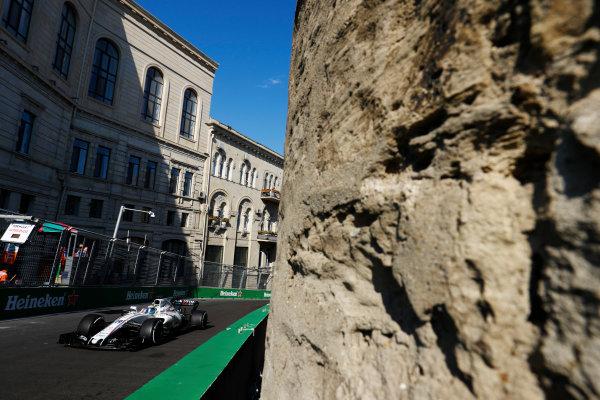 Baku City Circuit, Baku, Azerbaijan. Friday 23 June 2017. Felipe Massa, Williams FW40 Mercedes.  World Copyright: Steven Tee/LAT Images ref: Digital Image _R3I2415