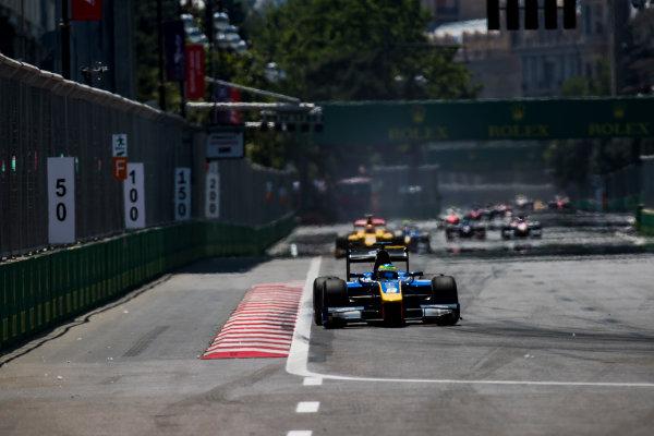 2017 FIA Formula 2 Round 4. Baku City Circuit, Baku, Azerbaijan. Sunday 25 June 2017. Oliver Rowland (GBR, DAMS)  Photo: Zak Mauger/FIA Formula 2. ref: Digital Image _54I3343