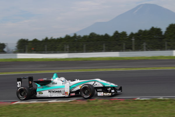 Fuji Speedway, Japan 13th - 14th July 2013.Rd 8 Winner  Takamoto Katsuata ( #37 PETRONAS TEAM TOM'S ) action World Copyright: Yasushi Ishihara/LAT Photographic Ref: Digital Image 2013JF3_Rd8&9_007