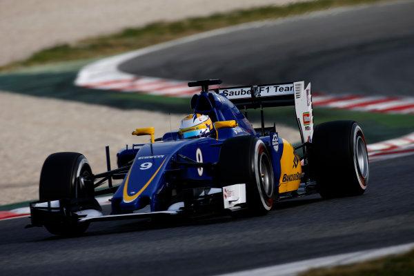Circuit de Catalunya, Barcelona, Spain Monday 22 February 2016. Marcus Ericsson, Sauber C35 Ferrari. World Copyright: Glenn Dunbar/LAT Photographic ref: Digital Image _W2Q1282