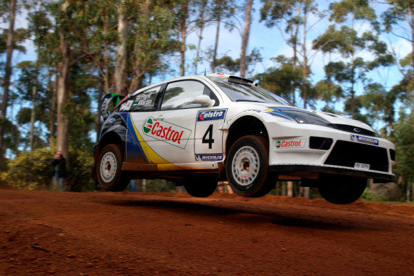 2003 FIA World Rally Champs. Round Ten Telstra Rally Australia 4th-7th September 2003.Markko Martin, Ford, Action. World Copyright: McKlein/LAT
