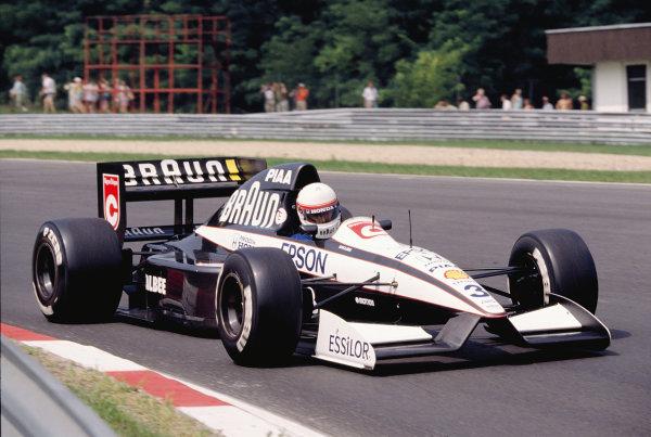 1991 Hungarian Grand Prix.Hungaroring, Budapest, Hungary. 9-11 August 1991.Satoru Nakajima (Tyrrell 020 Honda) 15th position.Ref-91 HUN 10.World Copyright - LAT Photographic
