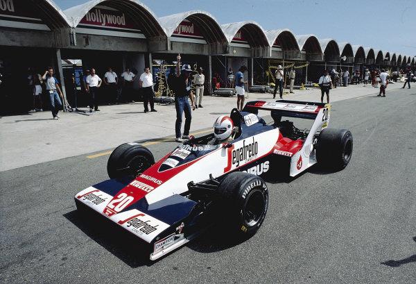1984 Brazilian Grand Prix.Jacarepagua, Rio de Janeiro, Brazil.23-25 March 1984.Johnny Cecotto (Toleman TG183B Hart).Ref-84 BRA 70.World Copyright - LAT Photographic