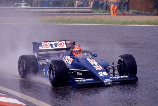 1987 Belgian Grand Prix. Spa-Francorchamps, Belgium. 15-17 May 1987. Piercarlo Ghinzani (Ligier JS29B Megatron) 7th position. Ref-87 BEL 23. World Copyright - LAT Photographic