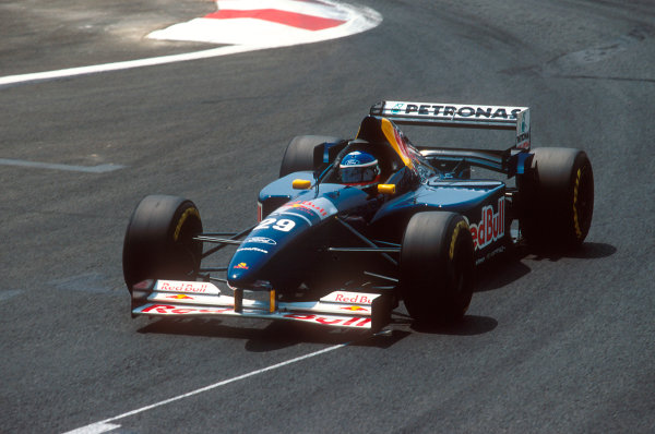Magny-Cours, France.30/6-2/7 1995.Jean-Christophe Boullion (Sauber C14 Ford). He exited the race with transmission failure.Ref-95 FRA 11.World Copyright - LAT Photographic