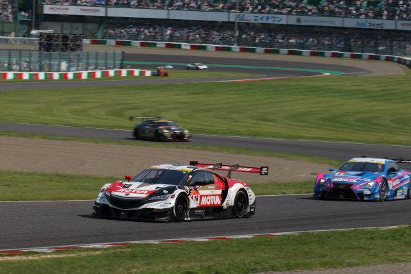 2017 Japanese Super GT Series. Suzuka, Japan. 26th - 27th August 2017. Rd 6. GT500 12th position Jenson Button ( #16 MOTUL MUGEN NSX-GT ) action World Copyright: Yasushi Ishihara / LAT Images. Ref: 2017SGT_Rd6_JB_010