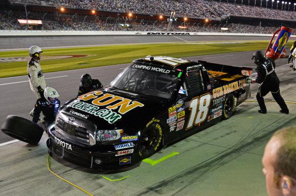 February 21-22, 2013 Daytona Beach, Florida USA Joey Coulter pitstop.(c) 2013, Brian Czobat LAT Photo USA .