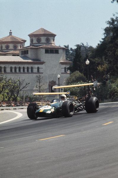 Montjuich Park, Barcelona, Spain. 2-4 May 1969.  Jack Brabham (Brabham BT26 Ford).  Ref: 69ESP03. World Copyright: LAT Photographic