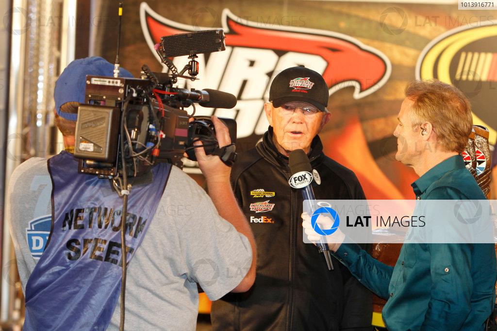 11-13 April, 2013, Fort Worth, Texas USA Joe Gibbs in victory lane ©2013, Matthew T. Thacker LAT South USA .