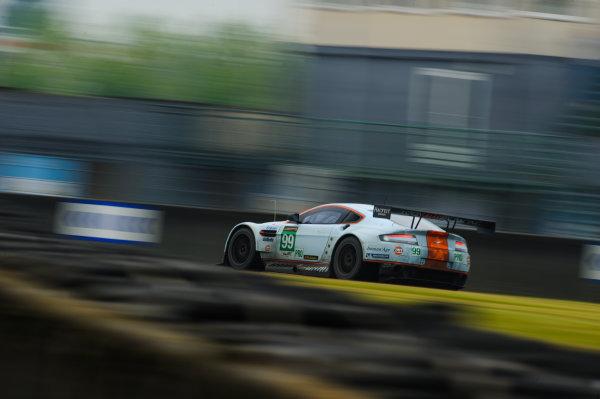 9th June, 2013, Le Mans, France Aston Martin Racing: Rob Bell, Fred Makowiecki, Bruno Senna, Johnny Adam.(c) 2013, Camden Thrasher LAT Photo USA