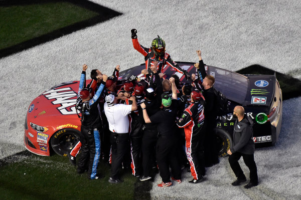 2017 NASCAR Monster Energy Cup Series - Daytona 500 Daytona International Speedway, Daytona Beach, FL USA Sunday 26 February 2017 Kurt Busch celebrates his win World Copyright: Nigel Kinrade/LAT Images  ref: Digital Image 17DAY2nk13910