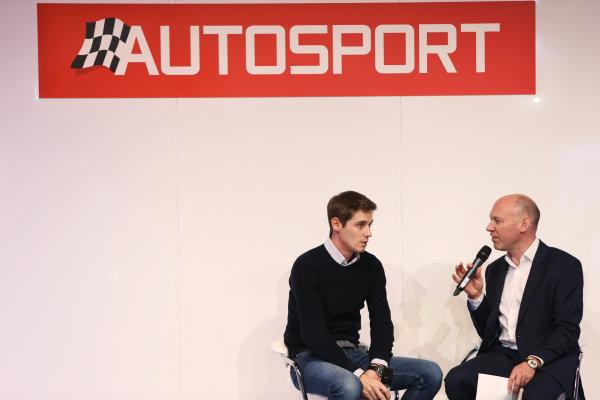 Autosport International Exhibition. National Exhibition Centre, Birmingham, UK. Thursday 12 January 2017. James Nash with Toby Moody. World Copyright: Joe Portlock/LAT Photographic. Ref: F89P0455