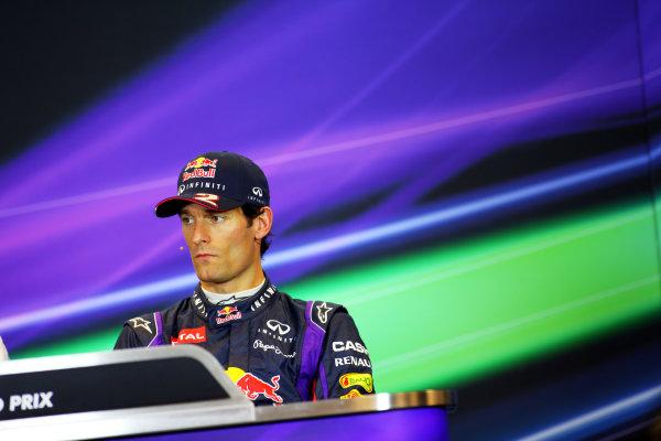 Spa-Francorchamps, Spa, Belgium. 24th August 2013. Mark Webber, Red Bull Racing. World Copyright: Sam Bloxham/LAT Photographic. ref: Digital Image IMG_8098.