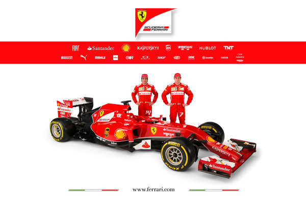 Ferrari F14 T Online Launch Images 25 January 2014 Fernando Alonso & Kimi Raikkonen, 2014 Ferrari Drivers Photo: Ferrari (Copyright Free FOR EDITORIAL USE ONLY) ref: Digital Image 140010eve