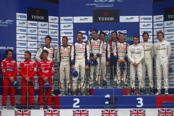 2014 FIA World Endurance Championship,Silverstone, Northants. 18th-20th April 2014,PodiumWorld copyright. Ebrey/LAT Photographic