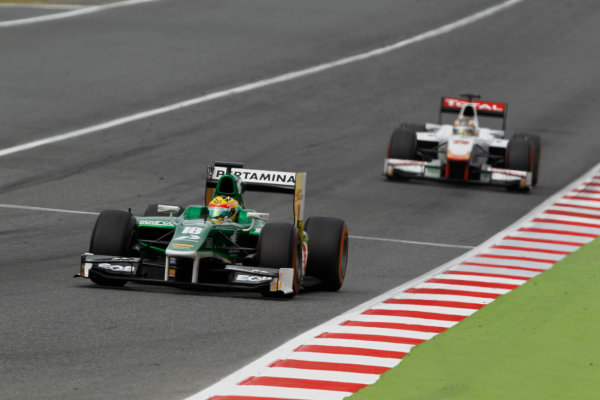 2014 GP2 Series Round 2 - Race 1. Circuit de Catalunya, Barcelona, Spain. Saturday 10 May 2014. Rio Haryanto (INA, EQ8 Caterham Racing)  Photo: Sam Bloxham/GP2 Series Media Service. ref: Digital Image _G7C6824