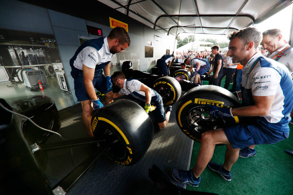 Red Bull Ring, Spielberg, Austria. Saturday 08 July 2017. The Pit Stop Challenge in the F1 fan village. World Copyright: Glenn Dunbar/LAT Images ref: Digital Image _X4I8007
