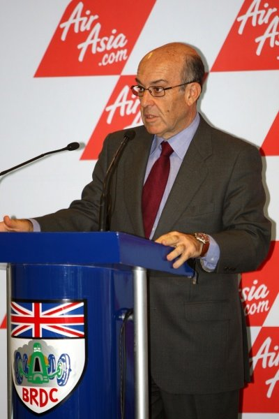 Carmelo Ezpeleta (ESP) CEO Dorna Sports S.L. AirAsia Signs As Title Sponsor for 2010 MotoGP British Grand Prix, Silverstone, England, Wednesday 10 February 2010.
