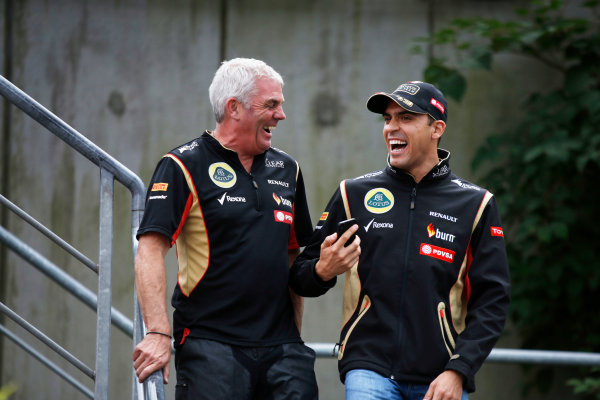 Spa-Francorchamps, Spa, Belgium. Friday 22 August 2014. Pastor Maldonado, Lotus F1. World Copyright: Charles Coates/LAT Photographic. ref: Digital Image _J5R9227